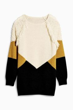 Buy Colourblock Fringe Sweater from the Next UK online shop