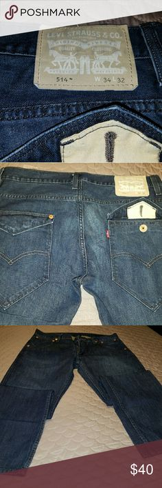 Levi jeans Levi's jeans 514 with rear pocket flaps. Previously worn no stains Levi's Jeans Straight