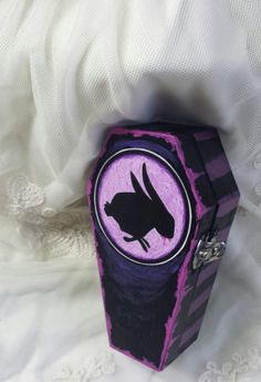 The Birthday Massacre Violet Rabbit Coffin by PrettiesForYouShop, $14.50