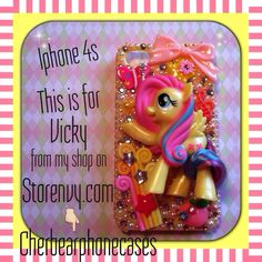 This is a Fluttershy iPhone 4s custom case from my shop on Storenvy.com- Cherbearphonecases - Contact me,I can do anything on any case!!