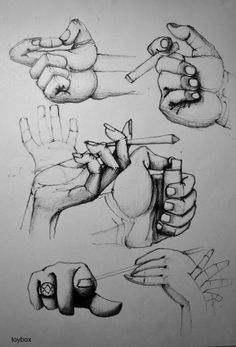 Pencil Drawing, Hand Study on Paper