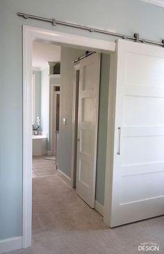 modern barn doors solution for awkward spaces, doors, outdoor living