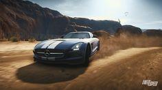 Mercedes Benz SLS On Race Track HD desktop wallpaper High