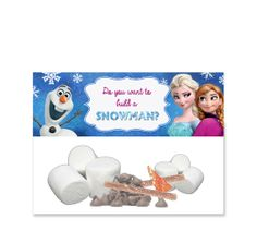 INSTANT DOWNLOAD - Frozen Favor Bag Toppers - Fits Ziplock - Do You Want to Build a Snowman  - Disney Frozen - Elsa Anna Olaf - In Purple on Etsy, $2.99