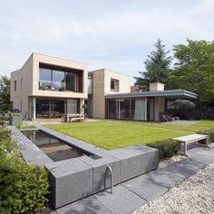 New villa in West Edinburgh - Garden : Modern houses by ZONE Architects
