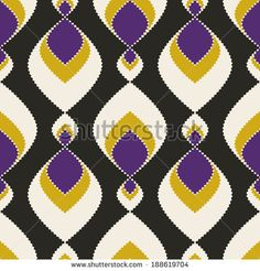 Geometric abstract seamless pattern on black background