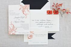 """Wedding Invitation Calligraphy.  """"Petite Contempo"""" style  - with lovely invitation by Paperwhites."""