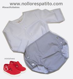 Look bebé camisa cuello caja + culotte botones