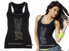 NWT SEW BLACK Zumba Rock With Me Racerback ZUMBA Top, Factory Sealed SZ L #ZUMBA #ZUMBARACERBACK