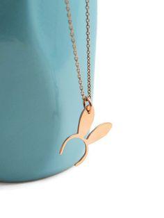 Easter bunny ears / cute bunny ears copper by SweetNovemberJewelry