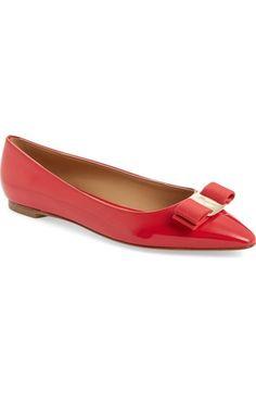5c0582f65 Main Image - Salvatore Ferragamo Emy Pointed Toe Flat (Women) Pointed Toe  Flats,