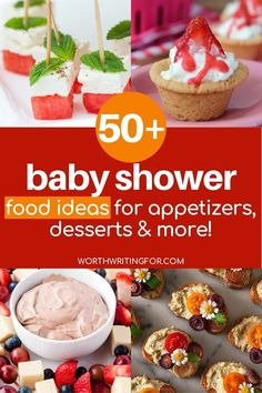 Create the perfect baby shower menu with these 50  baby shower food ideas! Everything from amazing baby shower finger foods, to everything you need for an amazing baby shower dessert table! Create the cutest baby shower treats to go with a delicious baby shower brunch, lunch, or appetizers menu. Check them all out here! #babyshowerfood #babyshowerfoodideas #babyshowerdesserts #babyshower Baby Shower Menu, Baby Shower Treats, Baby Shower Brunch, Baby Showers, Baby Shower Appetizers, Baby Shower Finger Foods, Baby Shower Desserts, Graduation Food, Rice Krispie Treats