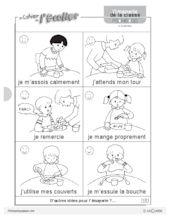 Imagerie: les règles de vie - FichesPédagogiques.com Teaching French, Yoga For Kids, Kids Education, Worksheets, Animation, Comics, Vignettes, Centre, Perception