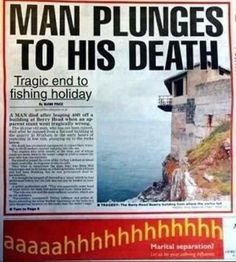Bad ad placement, and yet I laughed.