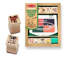 Melissa & Doug Baby Farm Animals Stamp Set 4+ - £5.99 - A great range of Melissa Doug Baby Farm Animals Stamp Set 4 - FREE Delivery over £25!