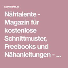 Nähtalente - Magazin für kostenlose Schnittmuster, Freebooks und Nähanleitungen - Nähtalente