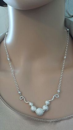 Stardust Beads on Sterling silver filled wire and chain. See more at lgbstyles.etsy.com!