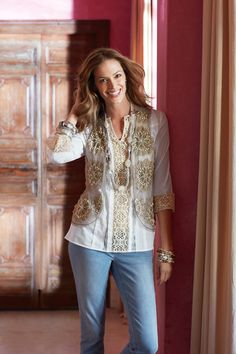 Mix a Sheer Vest with Lace #chicos