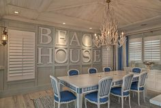 Part of a Tequesta, Florida design by Village Architects. There's not a picture of this house I don't love! House of Turquoise Beach Cottage Style, Beach Cottage Decor, Coastal Cottage, Coastal Homes, Coastal Decor, Coastal Style, Coastal Living, Country Living, Coastal Interior