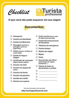 Checklist: documentos de viagem