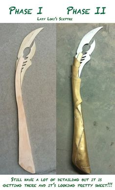 Loki Staff: Before and After by Gijinka–Girl on deviantART - Marvel Fan Arts and Memes Cosplay Tutorial, Cosplay Diy, Cosplay Outfits, Halloween Cosplay, Best Cosplay, Amazing Cosplay, Lady Loki Cosplay, Loki Costume, Marvel Cosplay