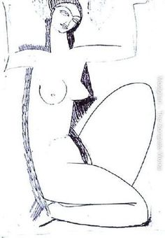 caryatid drawing by amedeo modigliani