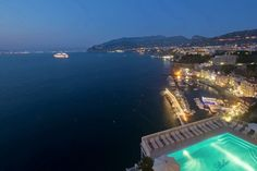 Belair hotel, Sorrento, at night
