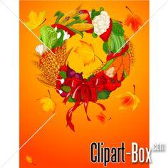 CLIPART AUTUMN FLORAL COMPOSITION