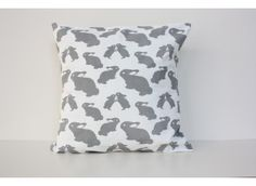 Grey Bunny Cushion Cover