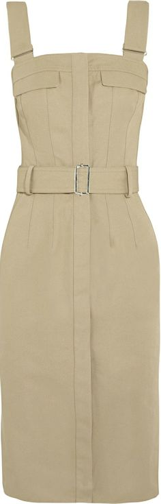 Alexander McQueen ● Belted cotton-canvas dress I'd wear as a jumper....