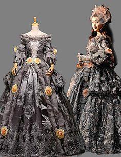 vendita steampunk®top maniche lunghe vestito dalla principessa vittoriano abito da sposa partito reale d'epoca lungo la promenade si veste