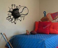 Baseball Base Ball Wall Sticker Decal Kids Room Decor Sport Boy Art Bedroom Deco | eBay