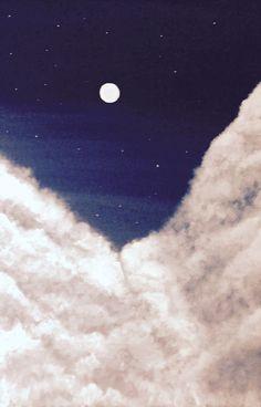 Night cloudy sky by Anna Misyura #night sky #fine art #paintings