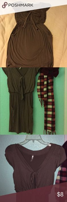 Dress brown size S Brown dress size S not stains, never being wear!! Dresses Midi