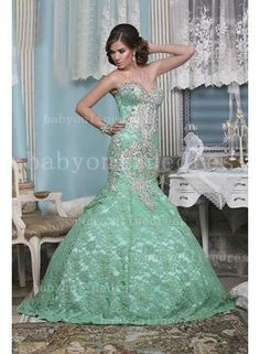 Wholesale Middle East Dresses Of Evenings Sweetheart Beaded Lace Mermaid Floor-length Gowns Green Dresses Dresses_Special Occasion Dresses_Buy High Quality Dresses from Dress Factory Green Evening Gowns, Evening Dresses, Prom Dresses, Green Lace Dresses, Floor Length Gown, Lace Mermaid, Beaded Lace, Buy Dress, Special Occasion Dresses