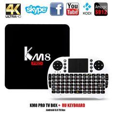 NEWEST KM8 PRO SMART TV BOX MEDIA PLAYER
