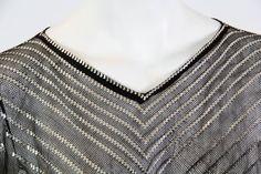 1920s Egyptian Assuit Metal and Cotton Net Dress 8
