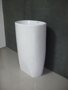 Pedestal lavabo de piedra Artificial lavabo Matte White Pedestal piedra resina fregadero B258 en Lavabos de Baño de Mejoras para el Hogar en AliExpress.com | Alibaba Group