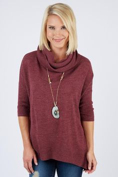 Love this color & style.  Like that the cowl isn't too bulky.  Love the 3/4 sleeves.  Looks lightweight-yay!
