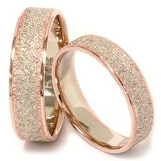Matching His & Hers 14K Rose & White Gold Wedding Bands - $699