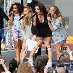Star Tracks: Thursday, August 20, 2015 | IT'S SHOW TIME | Meanwhile, the girls of British pop group Little Mix – from left, Leigh-Anne Pinnock, Perrie Edwards, Jesy Nelson and Jade Thirlwall – give a dynamic performance on Today in N.Y.C. on Wednesday.