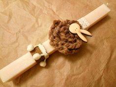 Πασχαλινές Λαμπάδες bunny - wool - easter
