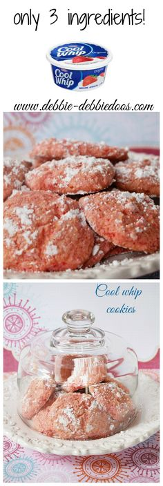 Coolwhip cookies with a cake mix. Use any cake mix you like. PUMPKIN would be perfect right about now!