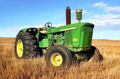 john deere 5010.Was introduced in 1962 1t 117hp.Tested at 121 PTO hp.The first 2 wheel drive farm tractor to break the 100hp mark.Has a huge 531 cubic inch diesel engine.Heavy tractor