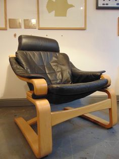 9707dfa9efd217 A 1970 s Vintage Scandinavian High Back Kroken Chair by Ake Fribytter for  Nelo Mobler. Black
