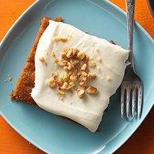 Oil, 4 eggs and no butter Pumpkin Cake Bars with Cream Cheese Frosting: King Arthur Flour