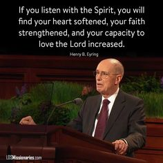 Listening to the Holy Ghost Gospel Quotes, Mormon Quotes, Lds Quotes, Religious Quotes, Uplifting Quotes, True Quotes, Great Quotes, Inspirational Quotes, Lds Mormon