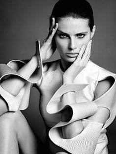 'Zig Zag' Isabeli Fontana by Terry Tsiolis for Vogue Russia August 2014