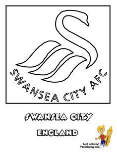 wwwyescoloringcom images swansea football soccer futbol at swansea soccercoloring