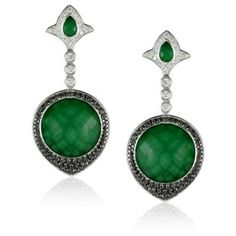 Green Agate and Diamond Earrings Available at Houston Jewelry!  www.houstonjewelry.com Diamond Earrings, Drop Earrings, Green Agate, Designer Earrings, Emerald, Houston, Dreams, Jewelry, Bijoux